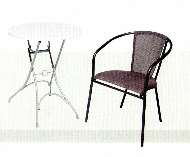 ╭☆雪之屋小舖☆╯@新品上市@高級日式復古鐵製網布椅/戶外透氣椅**不含桌--台灣製造