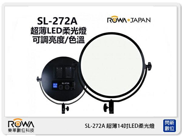 ROWA樂華SL-272A超薄14吋LED柔光燈棚拍攝影燈亮度色溫可調(SL272公司貨)