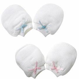 『121婦嬰用品館』baby city 寶貝熊 天絲棉紗布手套 藍/粉