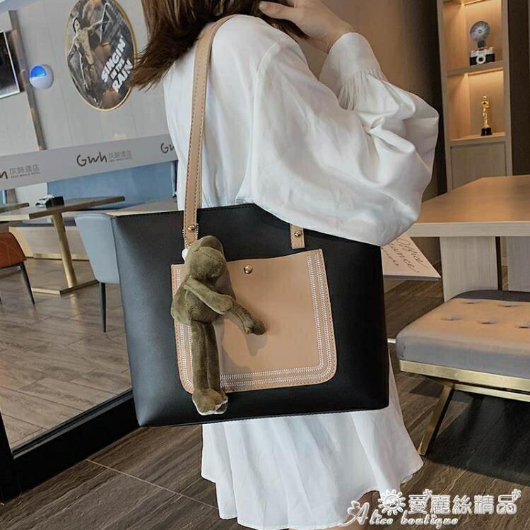 手提包 手提側背大包包2020新款潮大學生上課包洋氣大容量時尚女包托特包