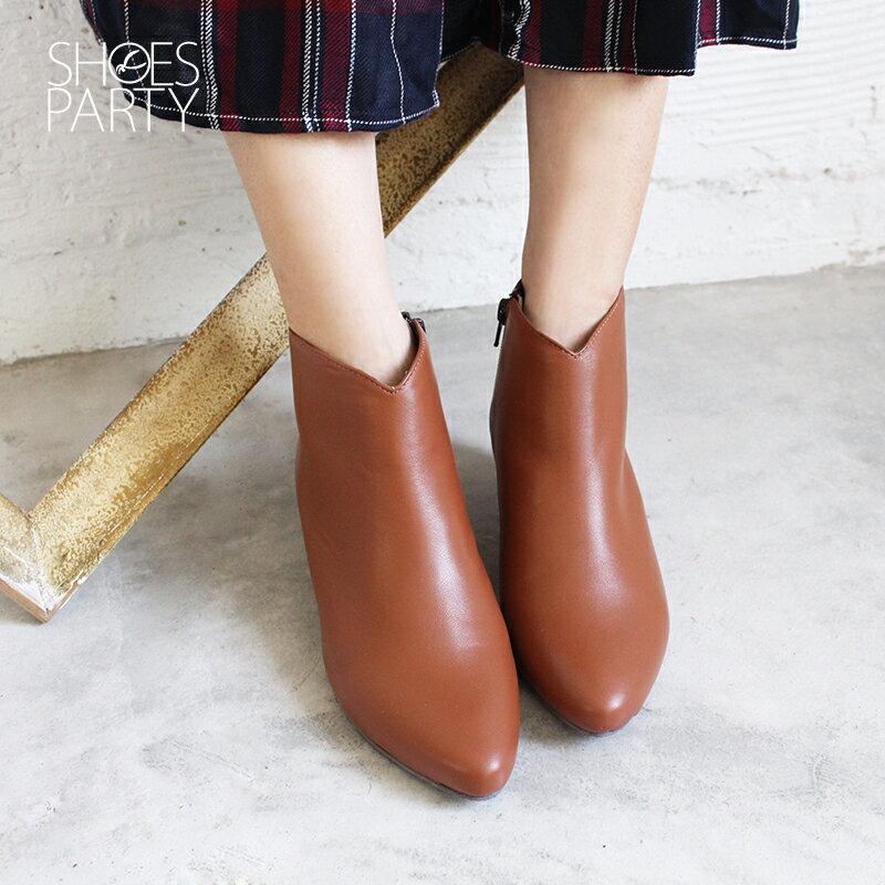 【B2-18115L】羊皮素面安定低跟短靴_Shoes Party 3