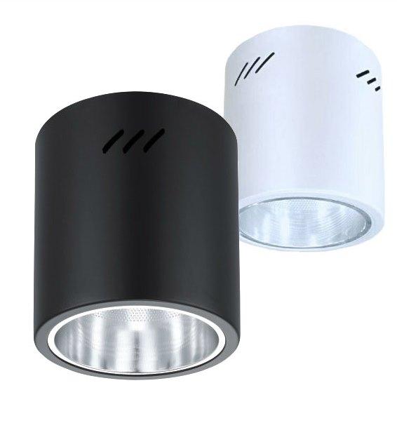 筒燈★吸頂式 圓形 筒燈 6吋 E27 單燈 白黑2款★永旭照明KS-1260W/8392