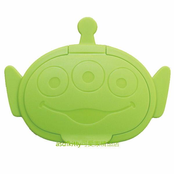 asdfkitty*迪士尼玩具總動員三眼怪頭型濕紙巾蓋-可重複黏貼-隨身包.溼拖巾.廚房油污濕巾.也可使用-日本製