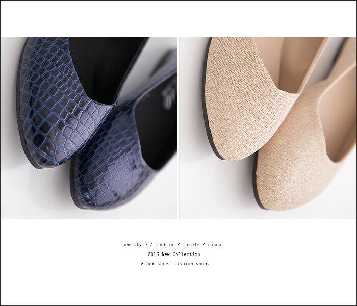 格子舖*【AD324】低調流行實穿 蛇紋鏡面皮革 璀璨金蔥 尖頭平底包鞋 娃娃鞋 便鞋 4色 2