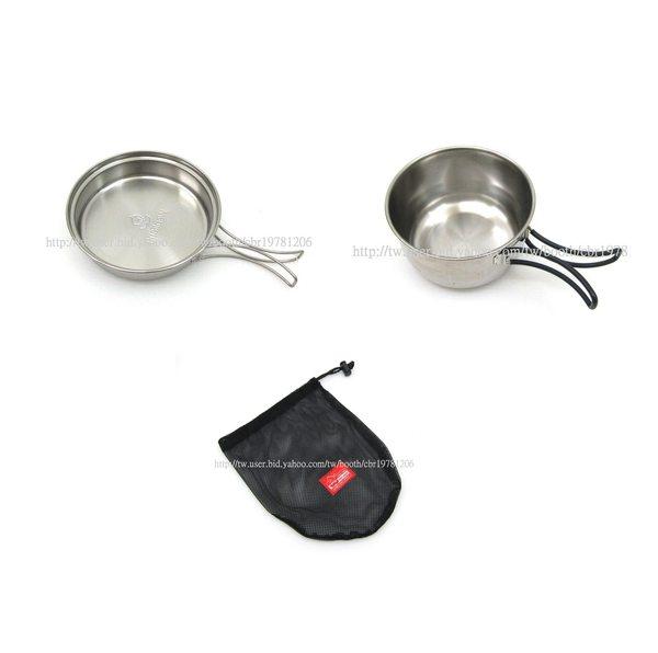 【露營趣】文樑 ST-2011 600cc 0.6L 超輕 不鏽鋼鍋 不鏽鋼碗 煎盤 單人鍋 個人餐具 登山 露營 炊具