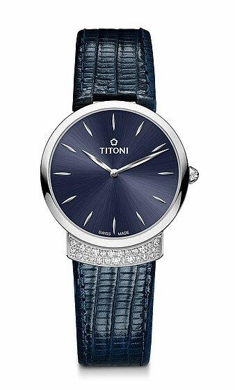TITONI瑞士梅花錶優雅伊人系列TQ42912S-ST-591簡約金屬時尚腕錶/銀+黑32mm