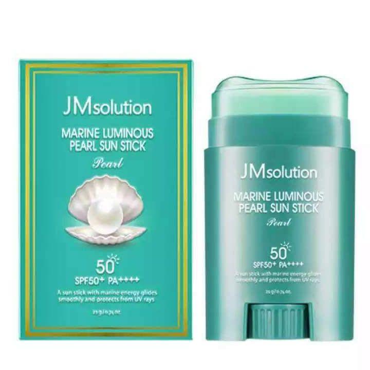 JM Solution 海洋珍珠隔離清爽防曬棒SPF50+ PA++++ 20g (綠色) 嘟可小舖