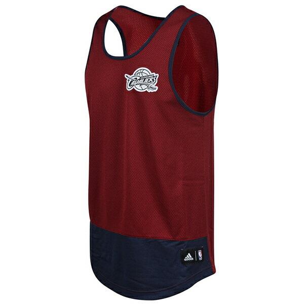 鞋殿 【AO2152】ADIDAS 籃球背心 球衣 練習衣 排汗 網洞 NBA騎士隊 酒紅深藍