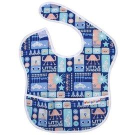 BabyCity娃娃城-防水圍兜(6-24M)藍色機器人148元