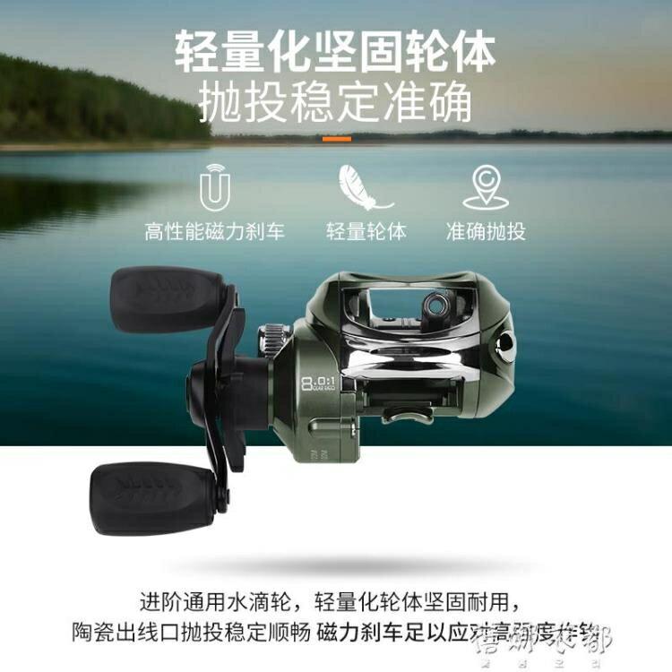 漁具套裝 遠投水滴輪路亞輪微物輪魚輪單買防炸線滴水輪雙刹車全金屬漁輪