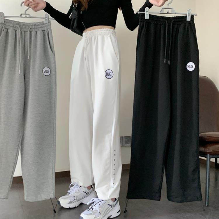 工裝褲女高腰顯瘦寬鬆休閒闊腿褲2021年新款秋季薄款束腳褲子韓版 凡卡時尚