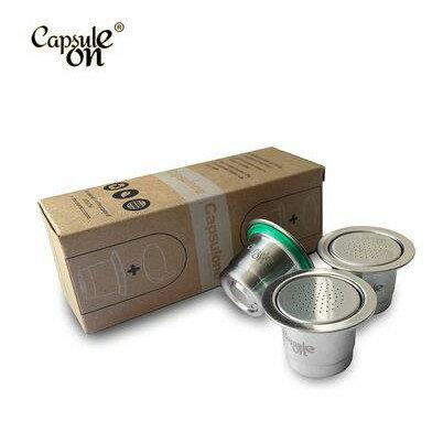 不鏽鋼膠囊咖啡膠囊 相容雀巢NESPRESSO咖啡機(2用型)