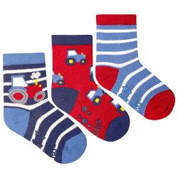 【hella 媽咪寶貝】英國 JoJo Maman BeBe 柔細寶寶兒童短襪/棉襪 3入組_汽車(JJS3-004)
