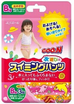 日本大王 戲水褲 女褲 XL號 3入 (80cm-100cm)