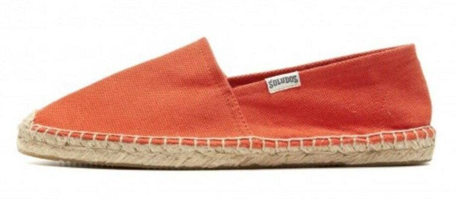 【Soludos】美國經典草編鞋-基本款草編鞋-橘【全店免運】 2