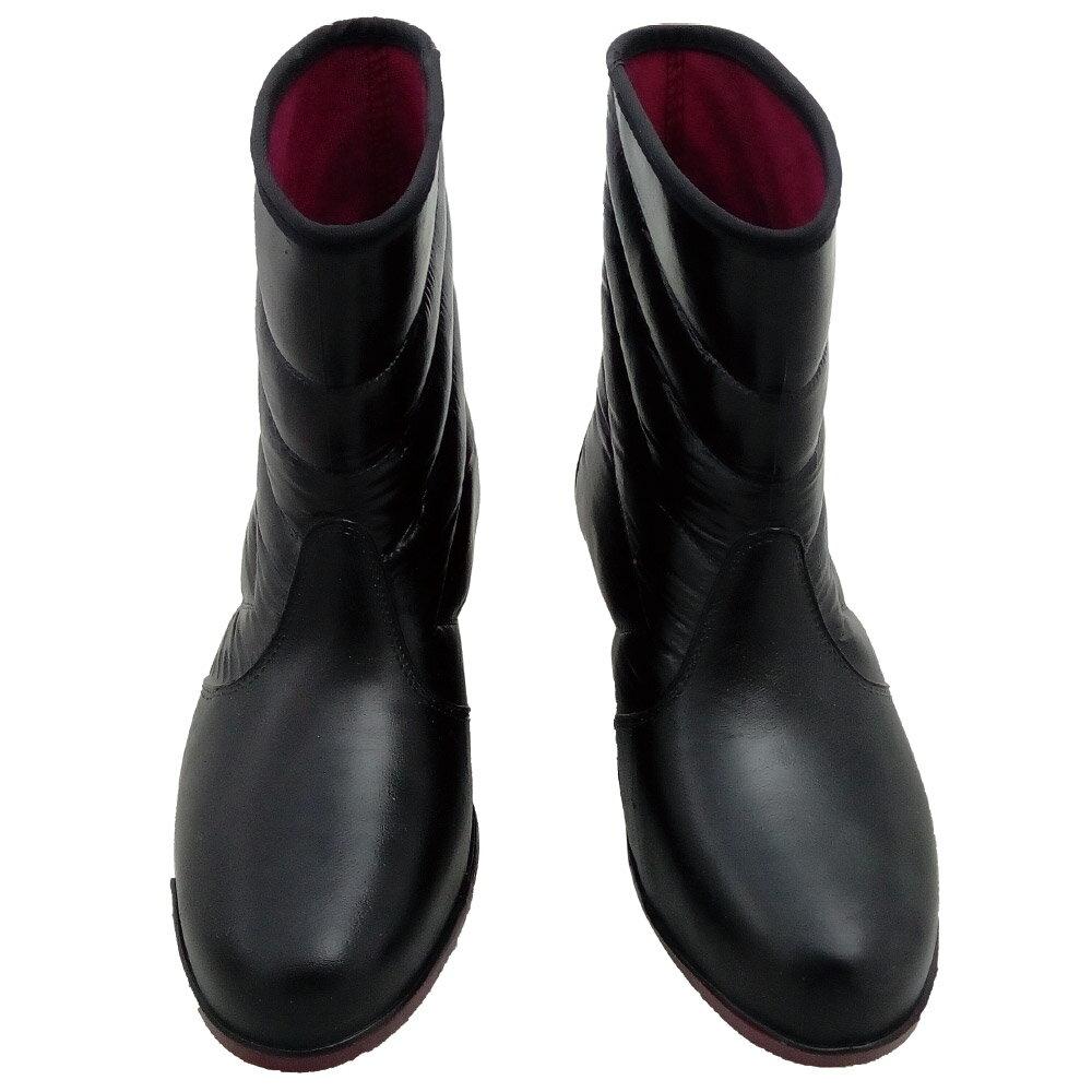 小玩子 百振江 女用 黑 雨鞋 柔軟 有型 耐磨 耐穿 防滑 防水 F9309