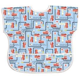 【淘氣寶寶】【美國Bumkins】兒童(1-3歲)短袖防水圍兜-消防車 BKU-897【保證公司貨】