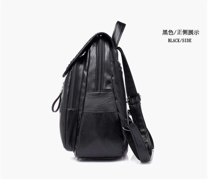 背包 2018新款潮百搭英倫雙肩包 復古雙肩包 軟皮大容量旅行包 學院風韓版書包 女款後背包