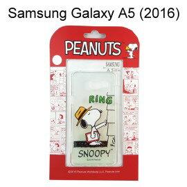SNOOPY 史努比透明軟殼 [RING] Samsung A510Y Galaxy A5 (2016)【台灣正版授權】