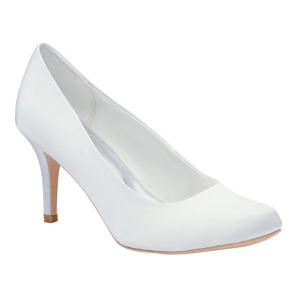 <br/><br/> 2MUCH絲綢高跟禮鞋-白色(35-40)<br/><br/>