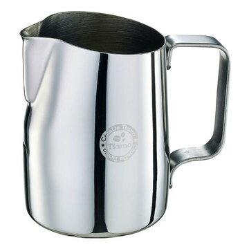 金時代書香咖啡  Tiamo 斜口拉花杯 450cc - 圓口設計 (鏡光)  HC7106
