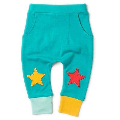 【英國LittleGreenradicals】有機棉星星束口褲-湖水綠S18104