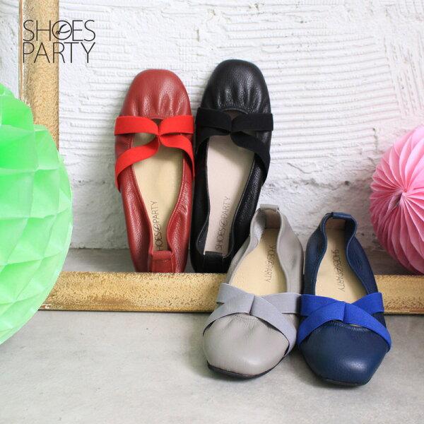 【 F2-17710L 】交叉鬆緊帶休閒鞋_Shoes Party