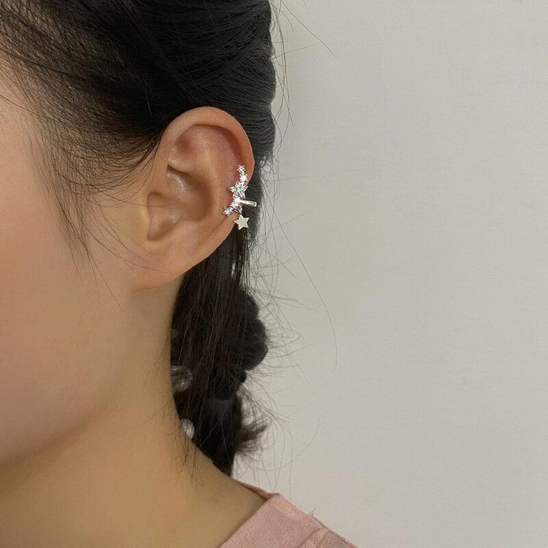 韓國小衆設計高級感無耳洞耳夾簡約百搭鋯石耳骨夾無洞無痛耳飾女