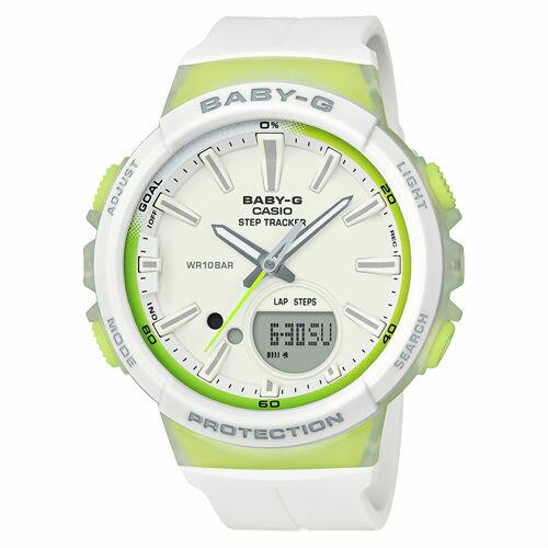 CASIOBABY-GBGS-100-7A2計步功能StepTracker運動數位流行腕錶