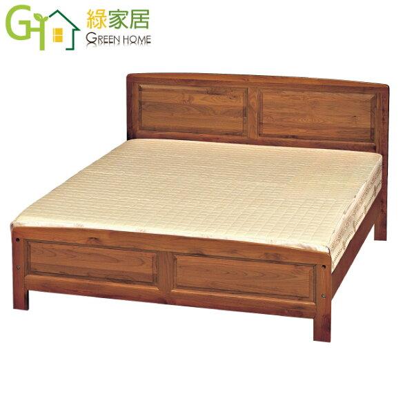 【綠家居】羅亞利時尚5尺樟木紋雙人床台(不含床墊)