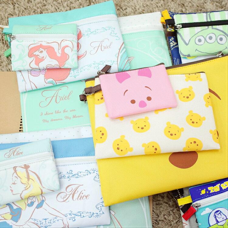 <br/><br/>  PGS7 日本迪士尼系列商品 - 迪士尼 大中小 組合包 收納包 維尼 愛麗兒 愛麗絲 玩具總動員【SIJ7170】<br/><br/>