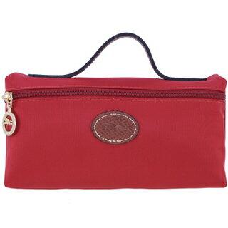 【LONGCHAMP】 LE PLIAGE 化妝包 - 玫紅【滿3000領券現折300】