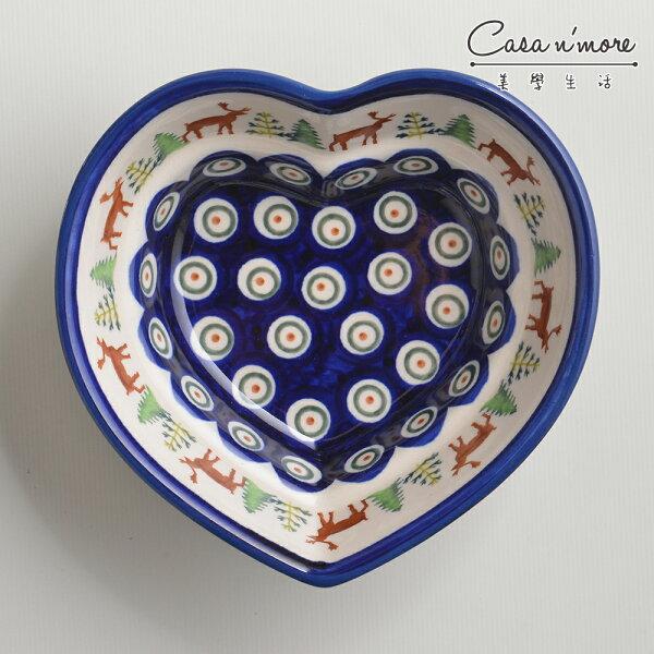波蘭陶歡樂聖誕系列愛心造型烤盤烘焙盤蛋糕盤水果盤點心盤波蘭手工製
