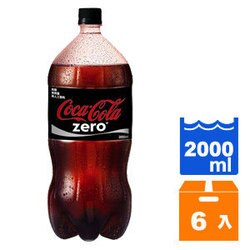 可口可樂 ZERO 2000ml (6入)/箱