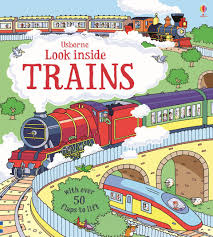 英國 Usborne Look Inside Trains 翻翻書 火車百科 *夏日微風*