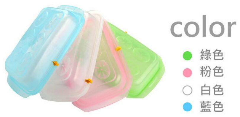 韓國製 JMGreen 新鮮凍 RRePlus 副食品冷凍記錄儲存分裝盒(1格-600g) (大) (顏色隨機)【紫貝殼】