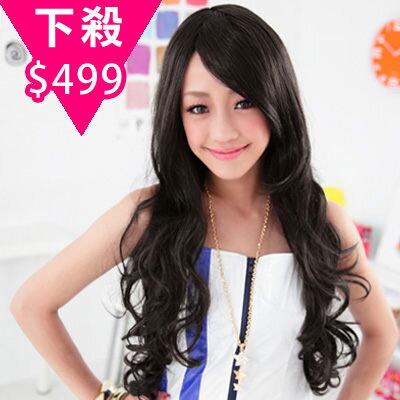 ☆雙兒網☆優質假髮(預購)【332C】高雅女孩尊貴亞麻長捲髮 0