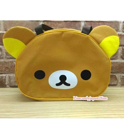 【真愛日本】17040600003 頭型大側背包-懶熊 SAN-X 懶熊 奶妹 奶熊 手提袋 包包