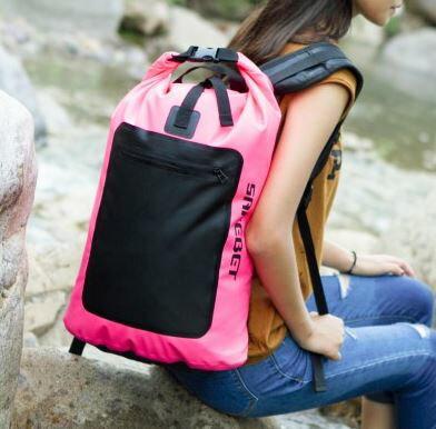 美麗大街【BF203E1】SAFEBET雙肩防水浮潛沙灘游泳包手機衣物漂流袋