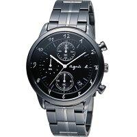 agnès b.包包推薦到agnes b 悠緩步調 計時腕錶 BM3002J1 VD57-00A0SD 黑就在寶時鐘錶推薦agnès b.包包