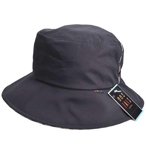 DAKS 經典品牌格紋滾邊潑水加工晴雨兩用漁夫帽