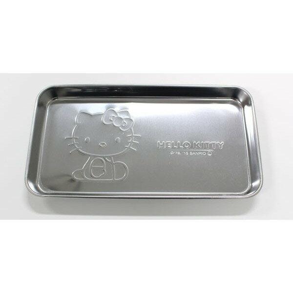 X射線【C168399】Hello Kitty 不銹鋼小物盤,不鏽鋼小物百用收納架/.飾品盤/菸灰缸小點心盤/零錢盤