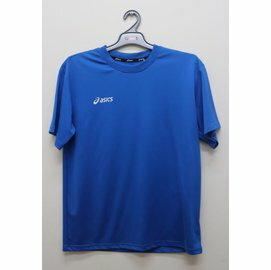 [陽光樂活] ASICS 亞瑟士 慢跑 圓領短袖排汗T恤 抗UV K11431-43 藍