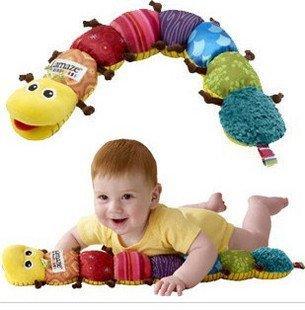 【lamaze拉梅茲同款】多功能七彩音樂毛毛蟲玩具 音樂布蟲尺益智身高尺 有寶寶最愛音樂.搖鈴.響紙