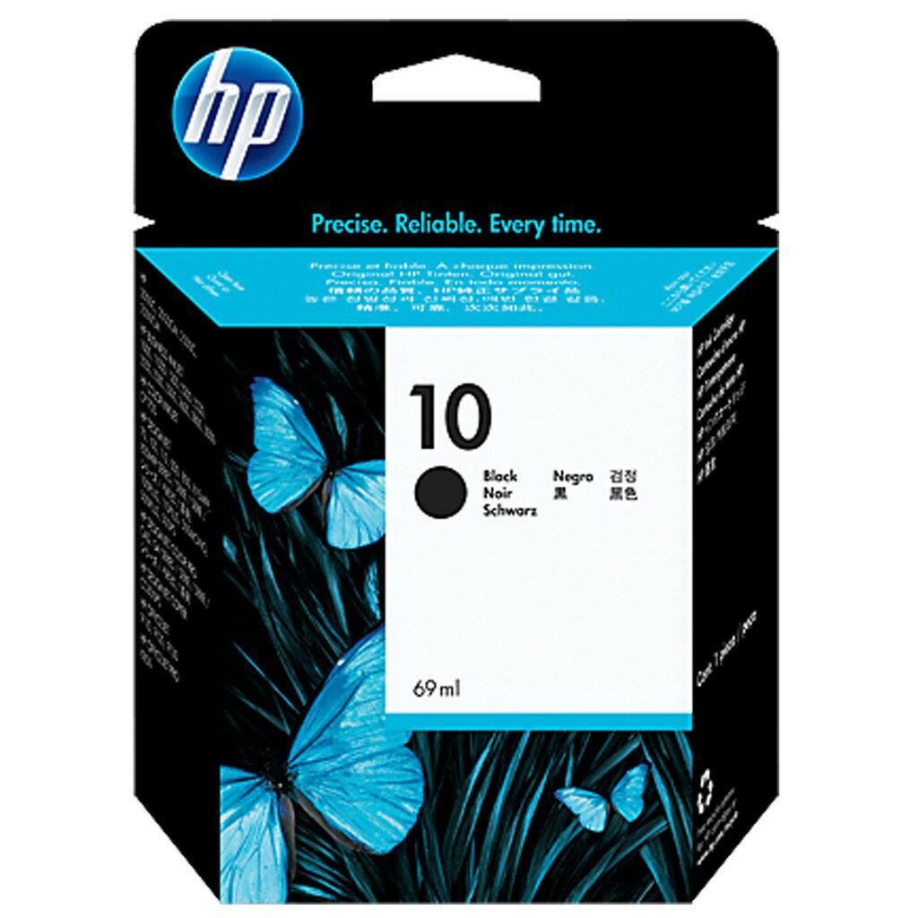HP NO.10 (C4844A) 黑色原廠墨水匣 DesignJet 70/DJ100/110/500/800