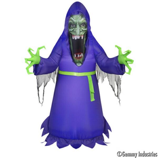 X射線【W007873】充氣5尺模擬臉巫婆,萬聖節/萬聖佈置/充氣擺飾好收納/萬聖充氣/巫婆/會場佈置/打卡神器/舞會道具/拱門
