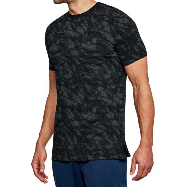 《UA出清69折》Shoestw【1305671-001】UNDER ARMOUR UA服飾 Sportstyle 短袖 T恤 能量棉 水彩刷紋 黑灰 男生 0