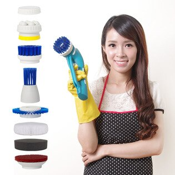 【YOTO悠樂】攜帶式一機多用防水清潔機打蠟機去角質按摩機(ZY1392)