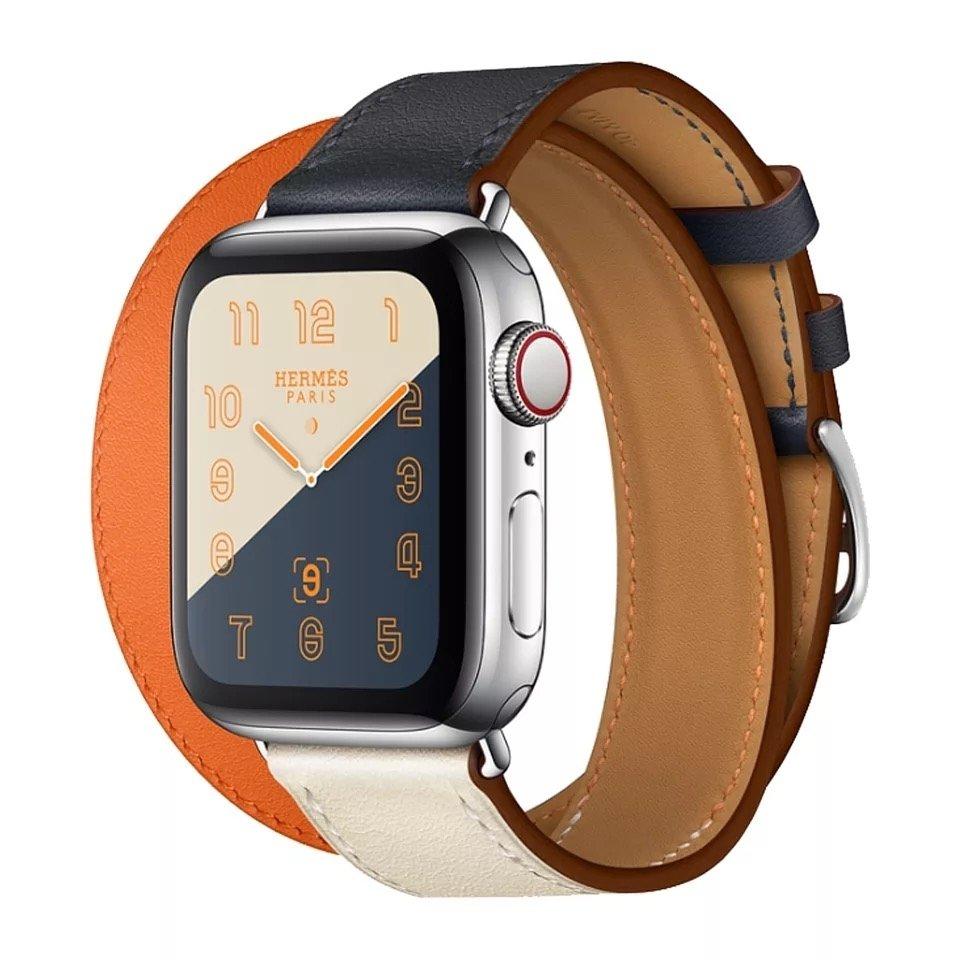 【APP下單滿799折100】Apple Watch 拼貼雙繞皮錶帶 蘋果手錶 1/2/3/4代 38 40 42 44mm