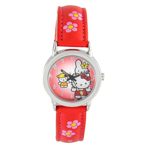 HelloKitty進口精品時尚手錶-好朋友一起來(紅)-HKFR101-01C